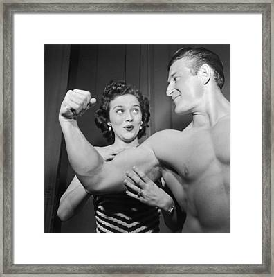 What Muscles! Framed Print by Archive Photos