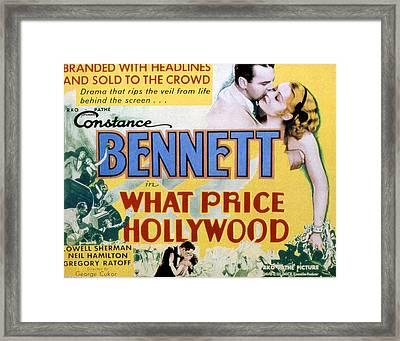 What Price Hollywood, Neil Hamilton Framed Print