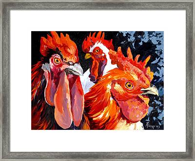 Framed Print featuring the painting What You Lookin At Boy by Rae Andrews