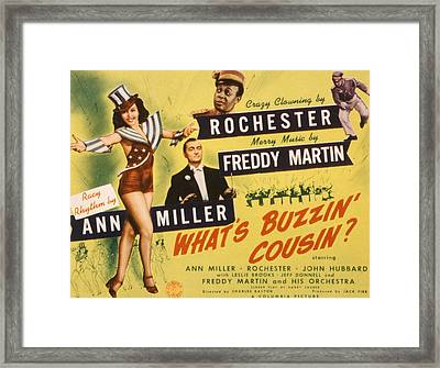 Whats Buzzin, Cousin, Ann Miller Framed Print by Everett