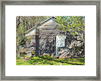 Framed Print featuring the photograph What's He Hiding In There? by MJ Olsen