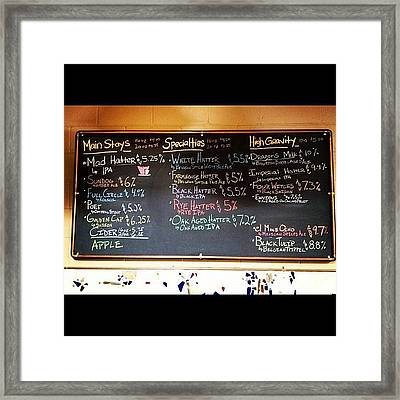 What's On Tap? Framed Print