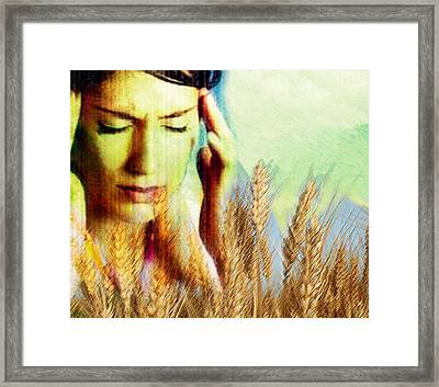 Wheat Allergy Framed Print