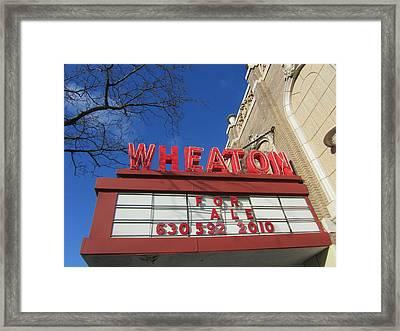 Wheaton Theatre Framed Print by Todd Sherlock