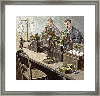 Wheatstone Telegraph System Framed Print by Sheila Terry