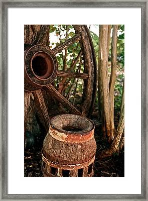 Wheel And Hub Framed Print by Frank SantAgata