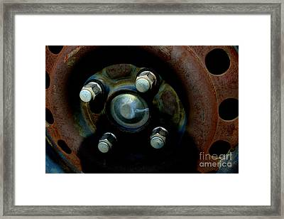 Wheel - Img4510 Framed Print by Wingsdomain Art and Photography