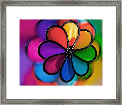 Wheel Of Colors Framed Print