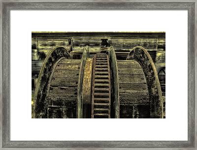 Wheel Of Industry Framed Print by John Monteath