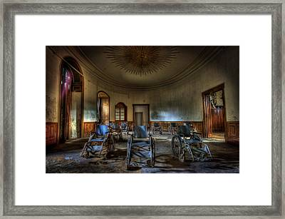 Wheelchairs Are Us Framed Print by Nathan Wright