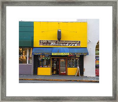 Whelans Smoke Shop On Bancroft Way In Berkeley California  . 7d10168 Framed Print by Wingsdomain Art and Photography