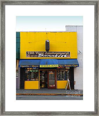 Whelans Smoke Shop On Bancroft Way In Berkeley California  . 7d10170 Framed Print by Wingsdomain Art and Photography