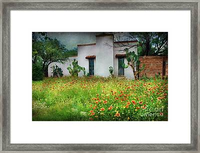 Framed Print featuring the photograph When A House Is A Home by Barbara Manis