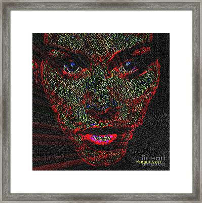 When Alone Is Not Alone Framed Print by Fania Simon