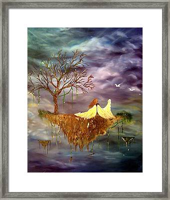 When An Angel Falls Framed Print by Nicole Champion