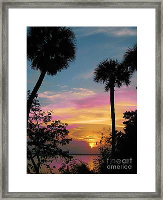 Framed Print featuring the photograph When Day Is Done by Judy Via-Wolff