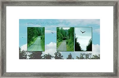 When Eagles Fly So Must I Framed Print