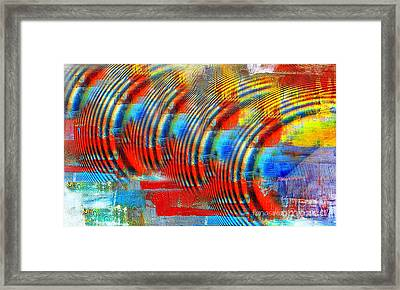 When Echo Rings Framed Print by Fania Simon