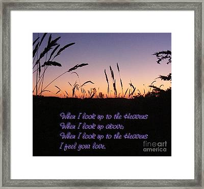 When I Look Up Framed Print by Nancy Chambers
