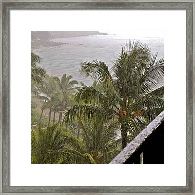 When It Rains It Pours Framed Print by Kirsten Giving