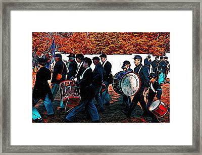 When Johnny Comes Marching Home Framed Print