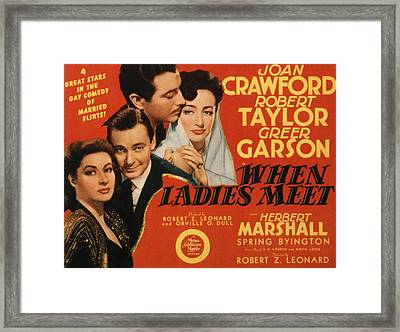 When Ladies Meet, Greer Garson, Herbert Framed Print by Everett