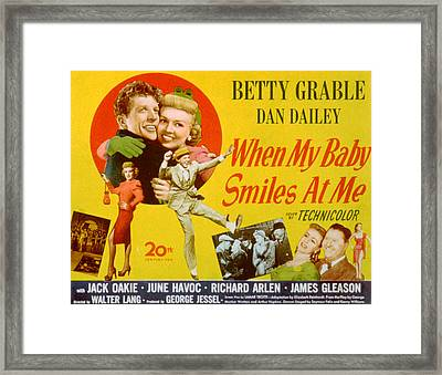 When My Baby Smiles At Me, Dan Dailey Framed Print by Everett