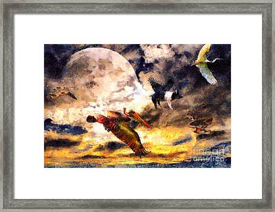When Pigs Fly 2 Framed Print by Wingsdomain Art and Photography