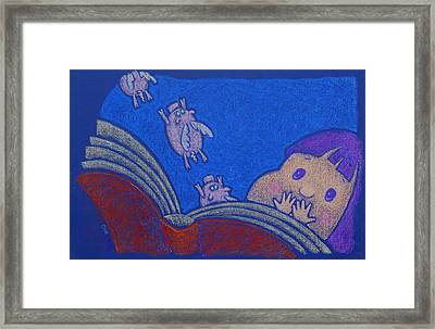 When Pigs Fly Framed Print by wendy CHO