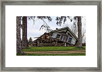 When Push Comes To Shove Framed Print