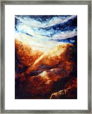 When Sorrow Is A Mountain Framed Print