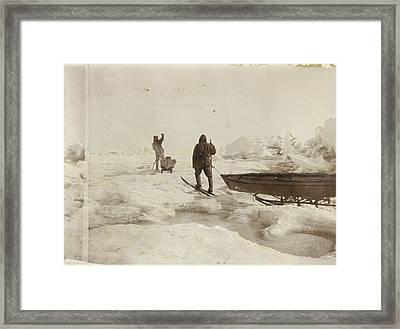 When The Fram Did Not Reach The North Framed Print by Fridtjof Nansen