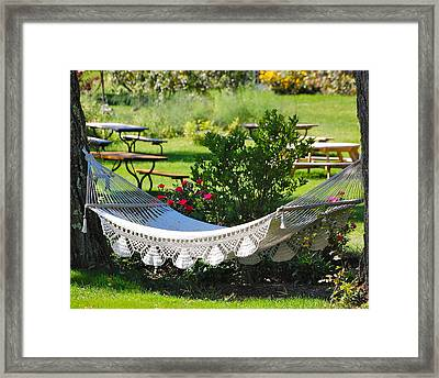 When The Livin' Is Easy Framed Print