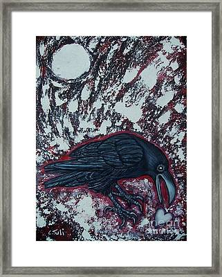 When The Raven Returned The Light Framed Print by Claudia Tuli