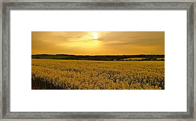 When The Sun Goes Down Framed Print by Karen Grist