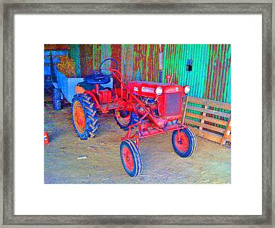 Framed Print featuring the photograph When Tractors Were Tractors by Duncan Pearson