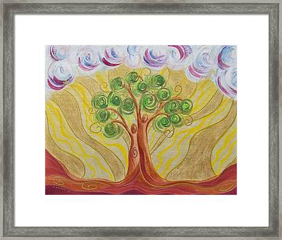 When Two Become One Framed Print by Marion Bradish