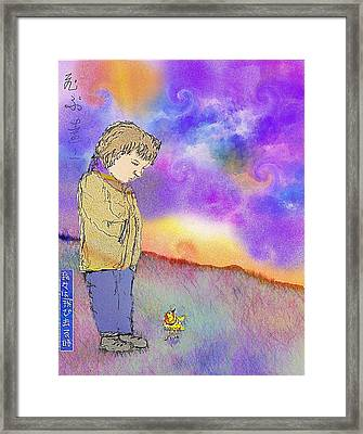 When We Fly Away Framed Print by Cynthia  Richards