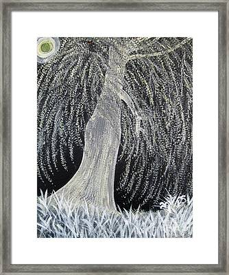 When Willows Weep Framed Print