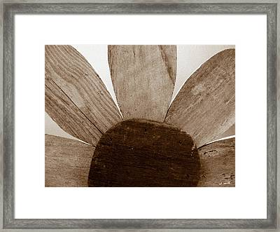 When Wood Flowers Be Brown Framed Print by Ed Smith
