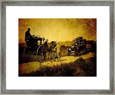 When Worlds Collide Framed Print by Sarah Vernon