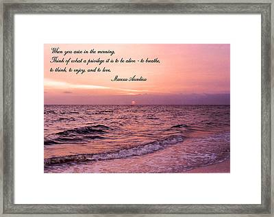 When You Arise Framed Print by Kristin Elmquist