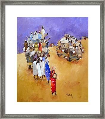 Where Are  Framed Print by Negoud Dahab