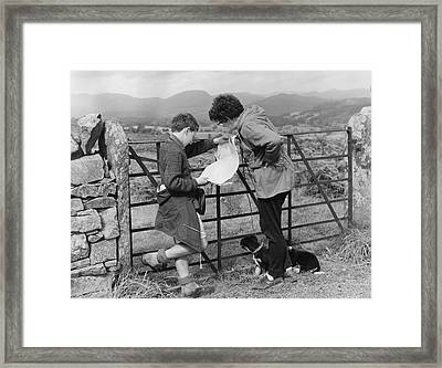 Where Are We ? Framed Print by Turner