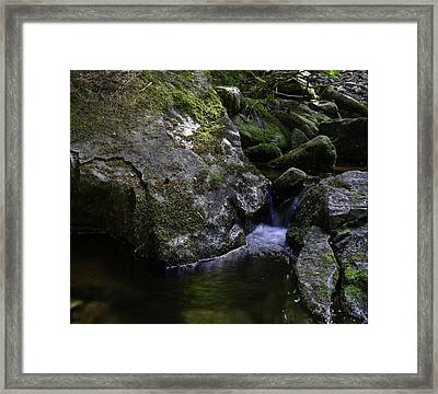 Where Did The Gods Come From ??  Framed Print by Grover Woessner