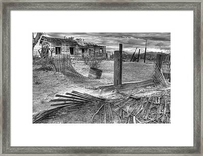 Where Does The Story End Monochrome Framed Print by Bob Christopher