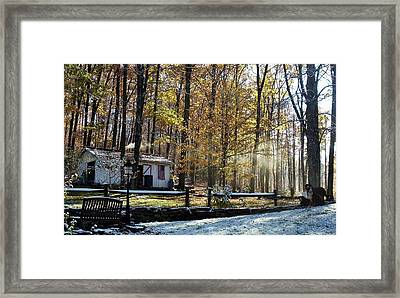 Where Fall Meets Winter Framed Print by Jennifer Compton