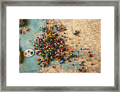 Where I Am From - Europe Framed Print
