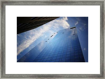 Where I End And You Begin - Skyscraper - New York City  Framed Print by Vivienne Gucwa