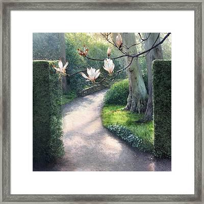 Where I Fell In Love Framed Print by Helen Parsley